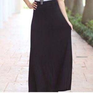 NWOT. Black Maxi Skirt